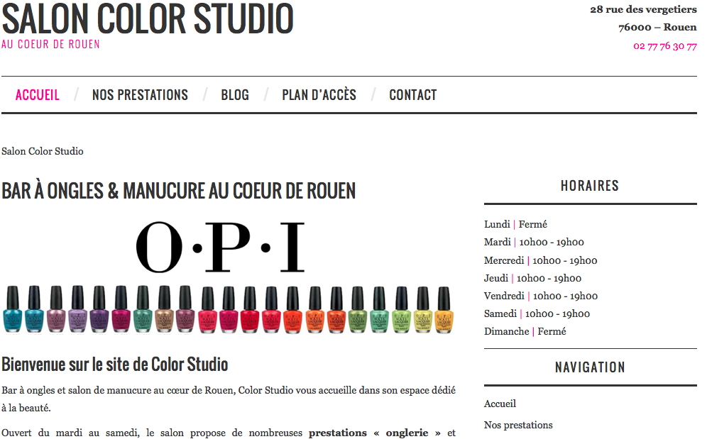 Nouveau site Color Studio